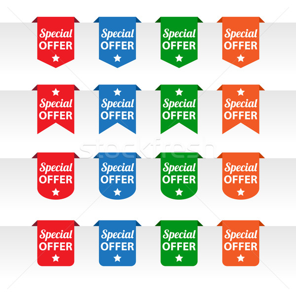 Special offer paper tag labels Stock photo © simo988