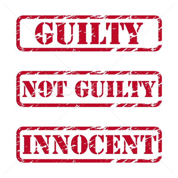 Grunge gomma francobolli giustizia set sfondo Foto d'archivio © simo988