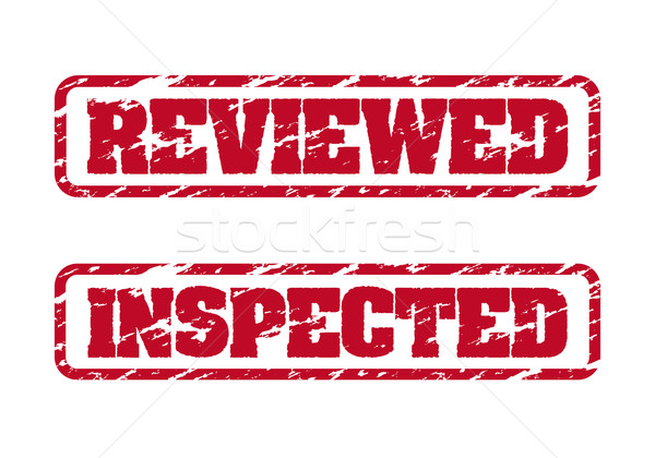 Reviewed and inspected rubber stamps Stock photo © simo988