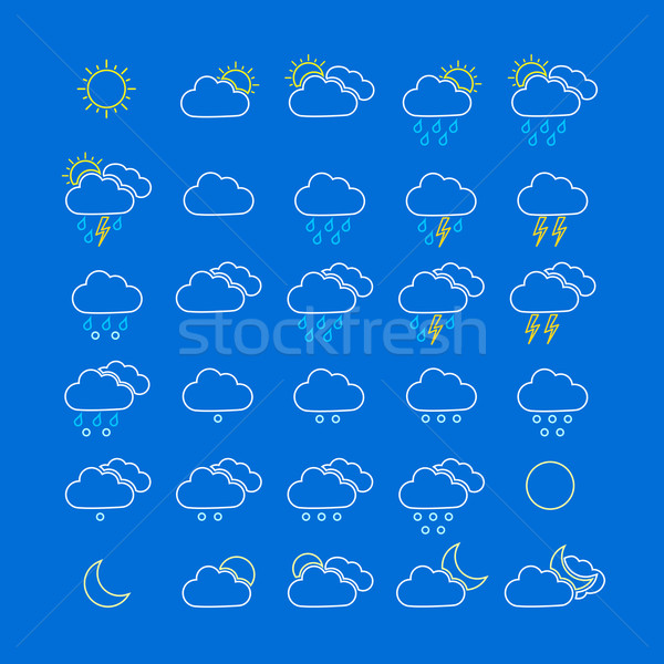 Colorful weather icons Stock photo © simo988