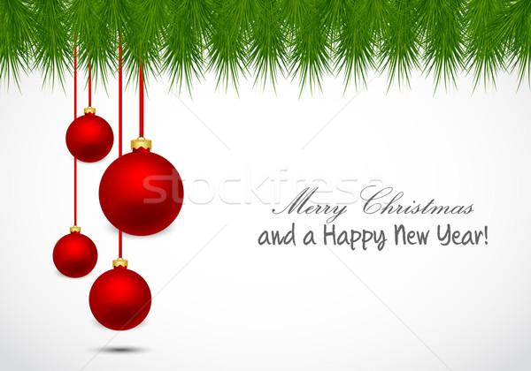 Navidad horizontal colgante árbol feliz Foto stock © simo988