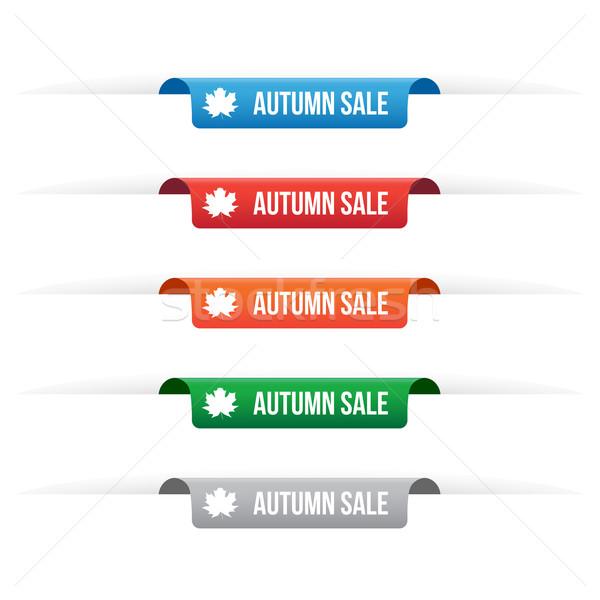 Autunno vendita carta tag etichette Foto d'archivio © simo988