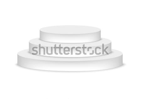 表彰台 孤立した 白 デザイン ステージ 階段 ストックフォト © simo988