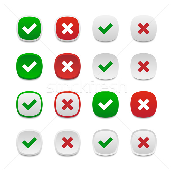 Rounded square validation buttons Stock photo © simo988