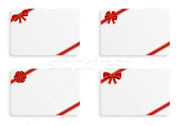 Geschenk Karten unterschiedlich Bögen Papier Internet Stock foto © simo988