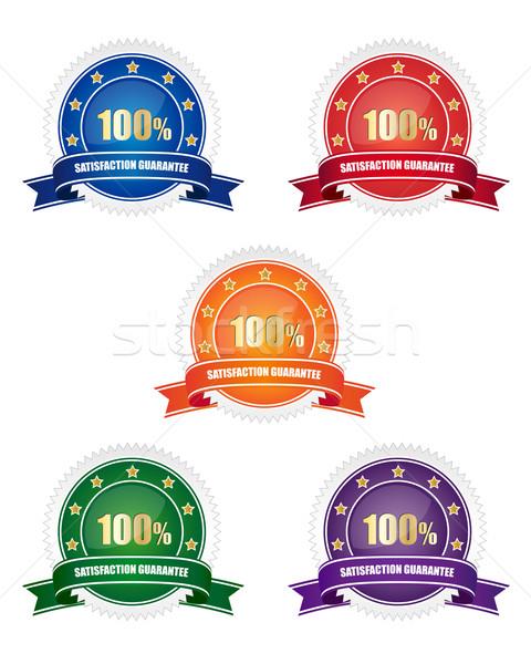 Collection of satisfaction guarantee signs Stock photo © simo988