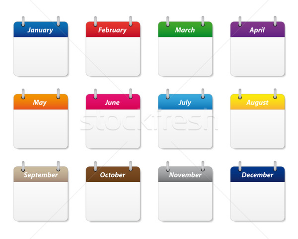Stock photo: Calendar icons set