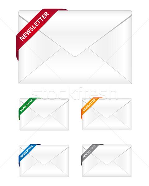 ニュースレター アイコン コーナー リボン コンピュータ デザイン ストックフォト © simo988