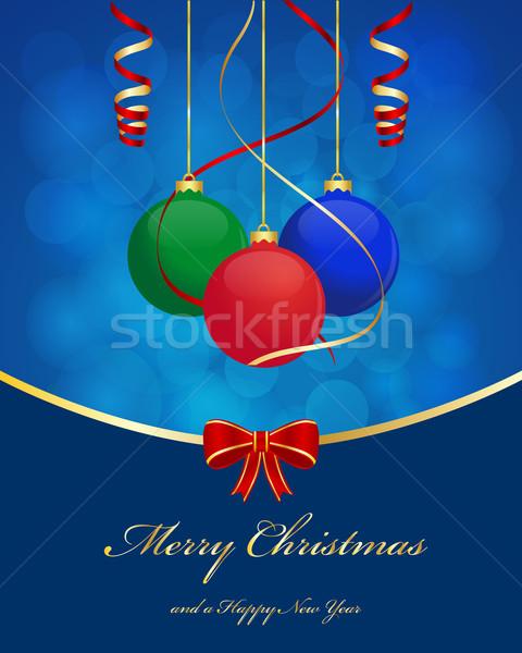 Weihnachten Ball Gruß Kugeln abstrakten Licht Stock foto © simo988