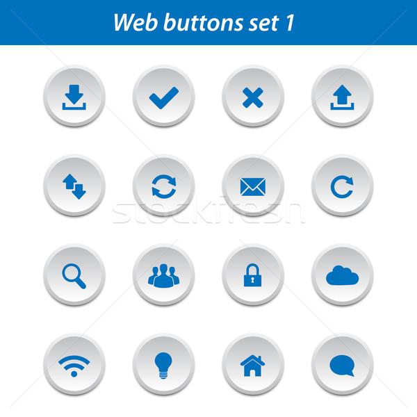 Сток-фото: веб · Кнопки · набор · коллекция · бизнеса · безопасности