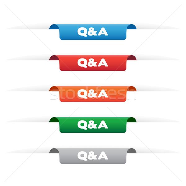 Papír címke címkék különböző színek üzlet Stock fotó © simo988