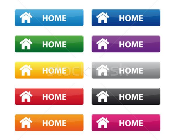 Home buttons Stock photo © simo988