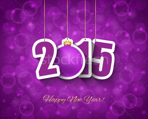 2015 nowy rok piłka bokeh świetle Zdjęcia stock © simo988