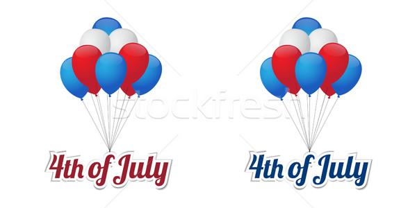 Dag ballonnen gelukkig hemel ontwerp Stockfoto © simo988