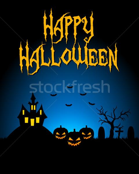 Halloween Karte dunkel Landschaft Party glücklich Stock foto © simo988