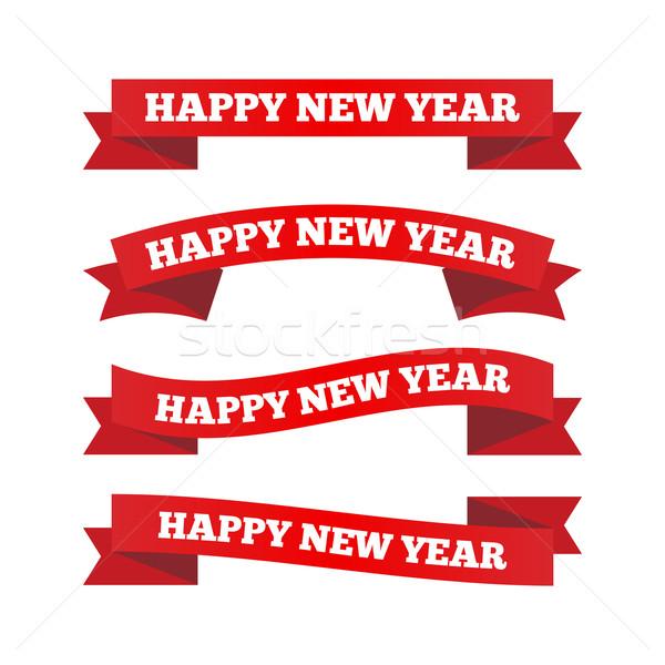Happy new year ribbons Stock photo © simo988