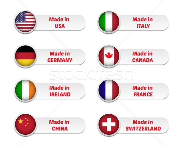 Etichette set business sfondo segno irish Foto d'archivio © simo988