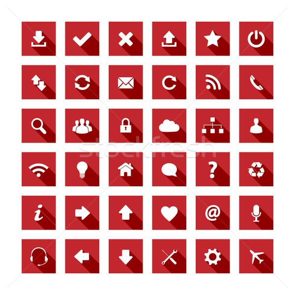 長い 影 スタイル アイコン 赤の広場 ビジネス ストックフォト © simo988