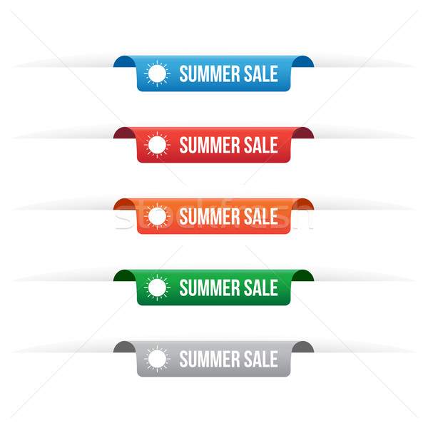 Summer sale paper tag labels Stock photo © simo988
