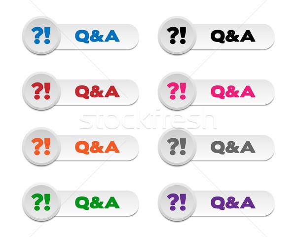 Q&A buttons Stock photo © simo988