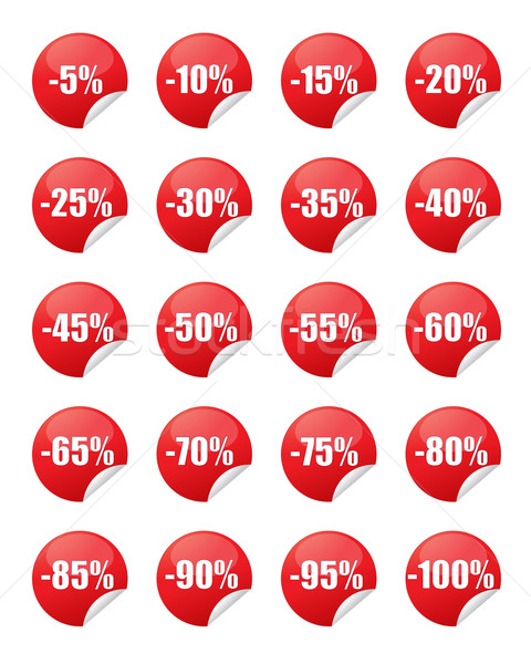 Red discount stickers Stock photo © simo988