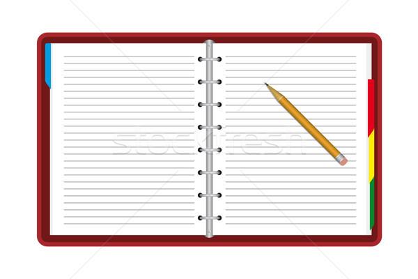 Сток-фото: ноутбук · карандашом · бизнеса · книга · школы · фон