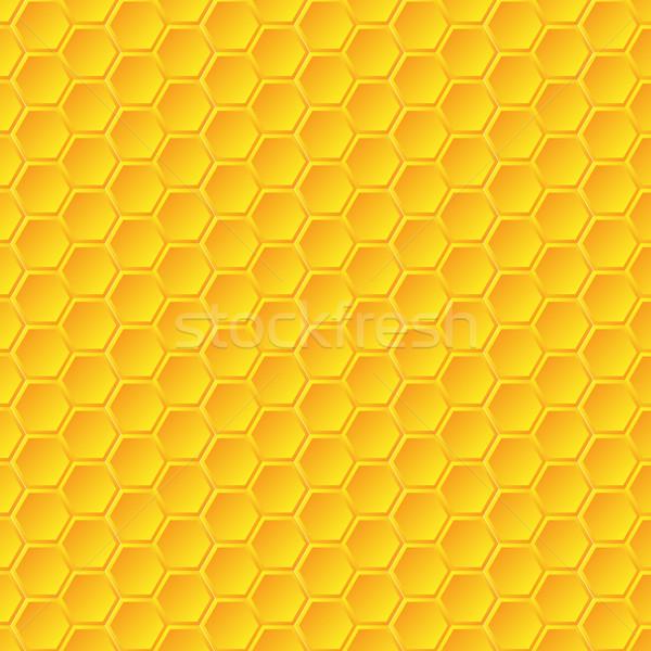 En nid d'abeille texture résumé nature design Photo stock © simo988