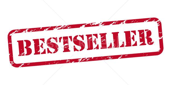 Bestseller pecsét izolált fehér felirat piros Stock fotó © simo988