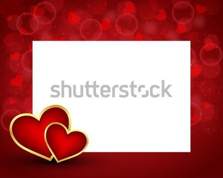 San valentino scheda vuota due cuori texture felice Foto d'archivio © simo988