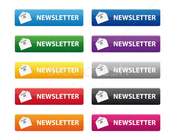 Newsletter buttons Stock photo © simo988