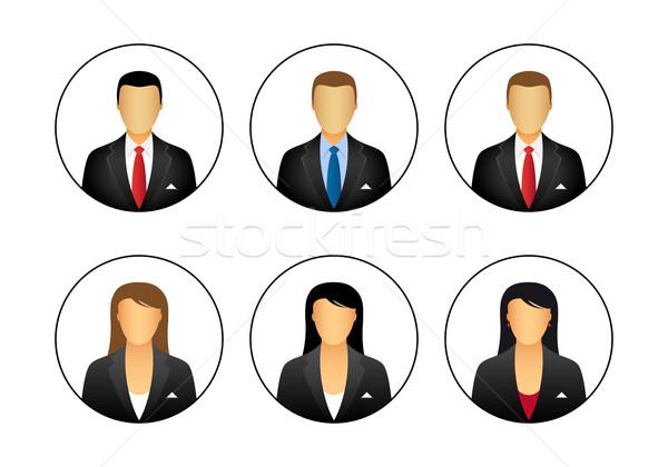 Negócio perfil ícones empresário empresária mulher Foto stock © simo988
