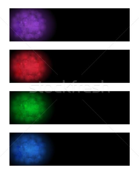 Soyut afişler ayarlamak renkler web Stok fotoğraf © simo988