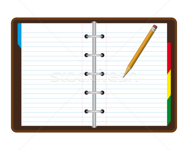 Realista nota livro isolado branco escritório Foto stock © simo988
