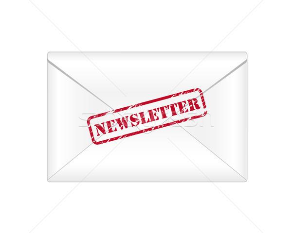 Boletim informativo ícone envelope fundo assinar Foto stock © simo988