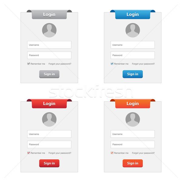 S'identifier ensemble couleurs affaires ordinateur Photo stock © simo988