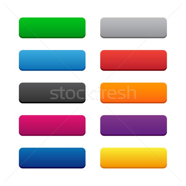 Teia botões cores computador internet Foto stock © simo988