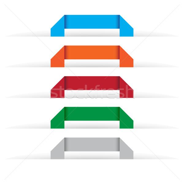 Origami conjunto cores negócio Foto stock © simo988