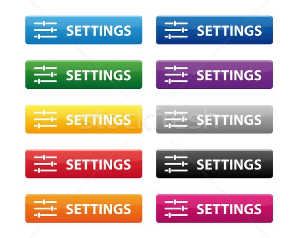Settings buttons Stock photo © simo988