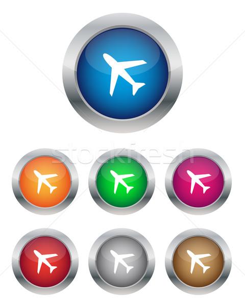 飛行機 ボタン 色 インターネット 背景 ストックフォト © simo988