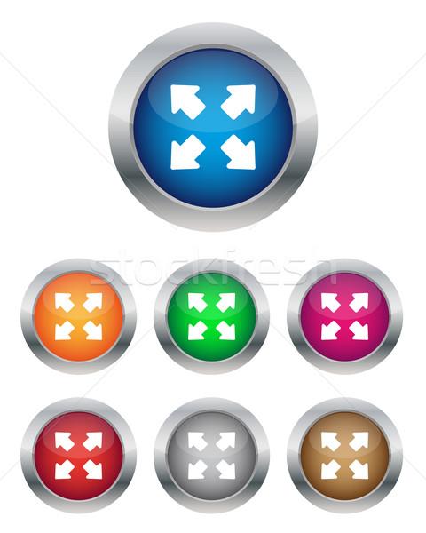 Completo schermo pulsanti colori design Foto d'archivio © simo988