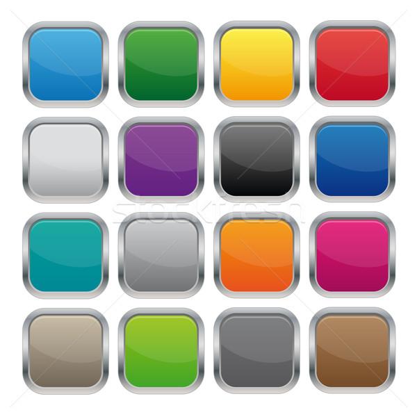 Fémes tér gombok különböző színek üzlet Stock fotó © simo988