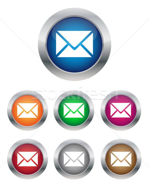 E-mail botões coleção cores computador Foto stock © simo988