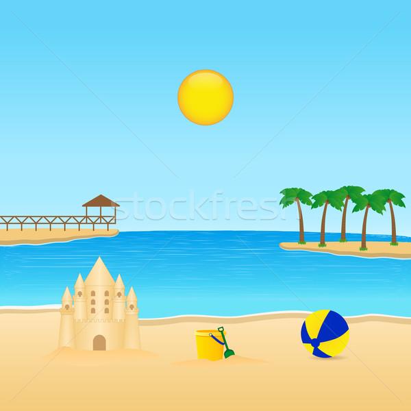 Tropical paisagem belo computador praia Foto stock © simo988