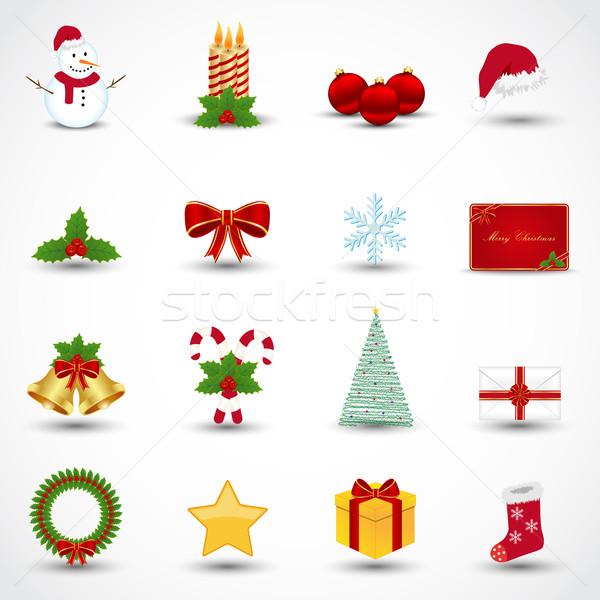 Weihnachten Symbole glücklich Schnee Feld Stock foto © simo988