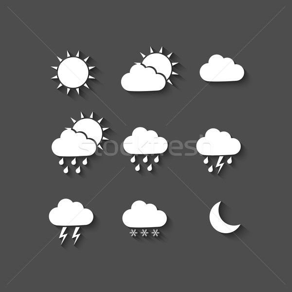 Long shadow style weather icons Stock photo © simo988