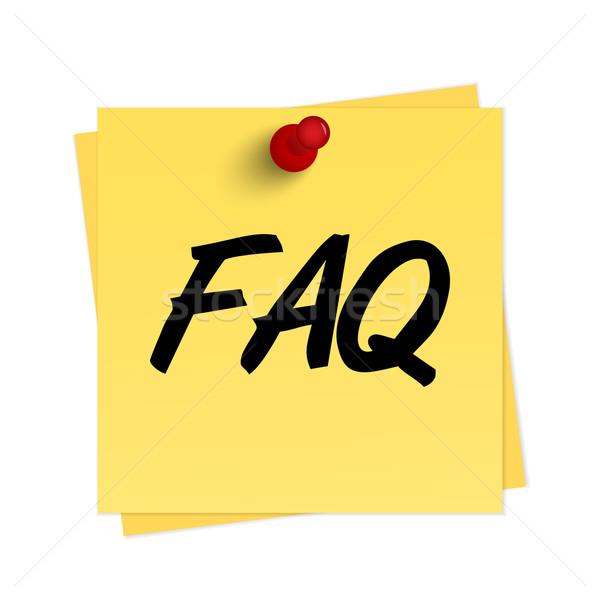FAQ text on reminder Stock photo © simo988