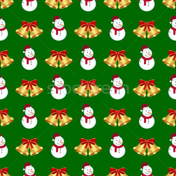 Natal sem costura inverno vermelho papel de parede fita Foto stock © simo988