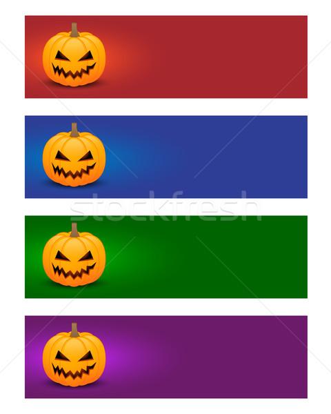 Colorido halloween banners cores olhos Foto stock © simo988