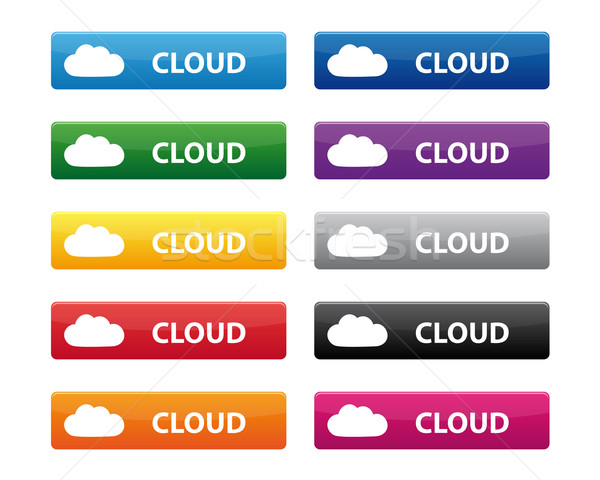 Felhő gombok gyűjtemény különböző színek számítógép Stock fotó © simo988