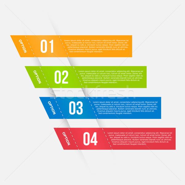 Infografika sablon bannerek színes üzlet internet Stock fotó © simo988